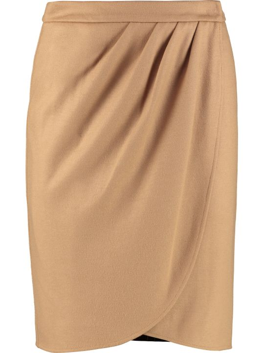 Max Mara Wool Wrap Skirt