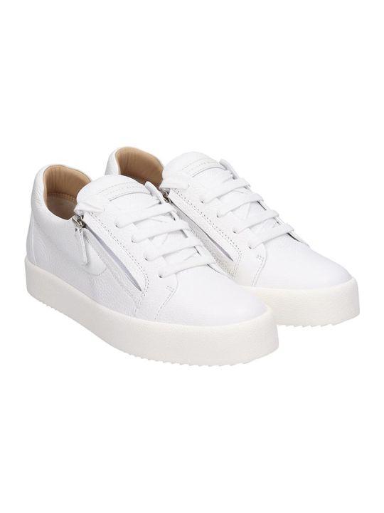 Giuseppe Zanotti Addy Sneakers In White Leather