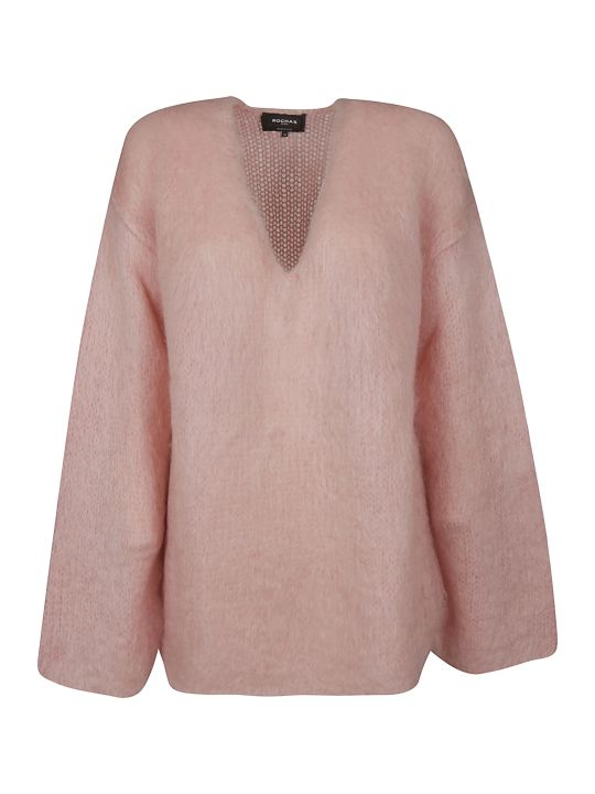 Rochas V-neck Oversized Sweater