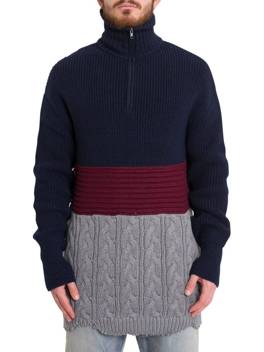 Balenciaga Patchwork Oversized Sweater