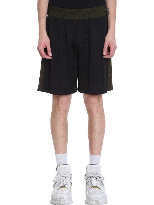 Maison Margiela Black/green Nylon Shorts