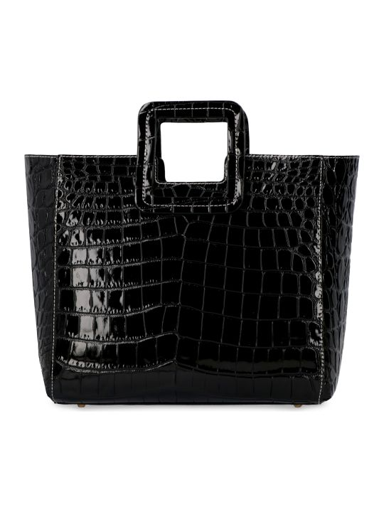 STAUD Shirley Croco-print Leather Bag
