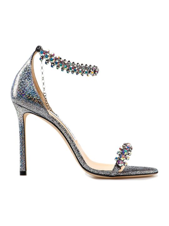 Jimmy Choo Hologram Leather Sandal