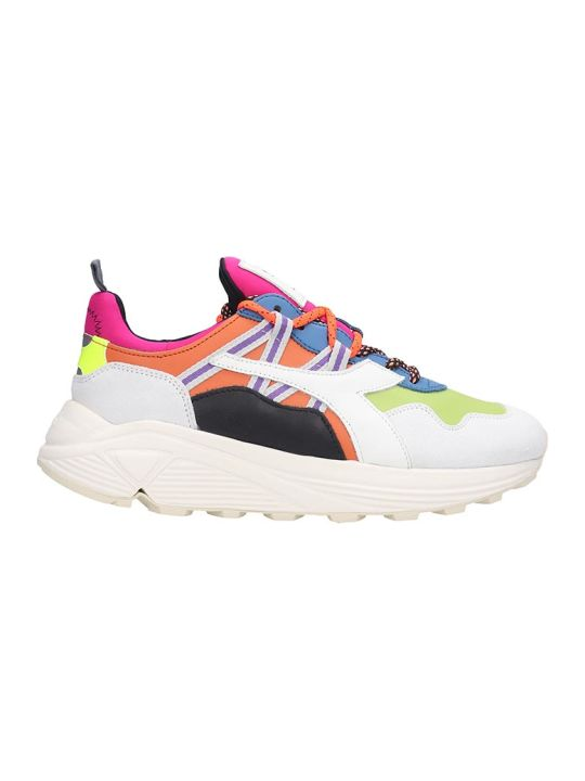 Diadora Rave  Sneakers In Multicolor Leather And Fabric