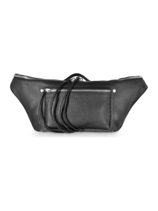 Rag & Bone Black Leather Large Elliot Fanny Pack / Belt Bag