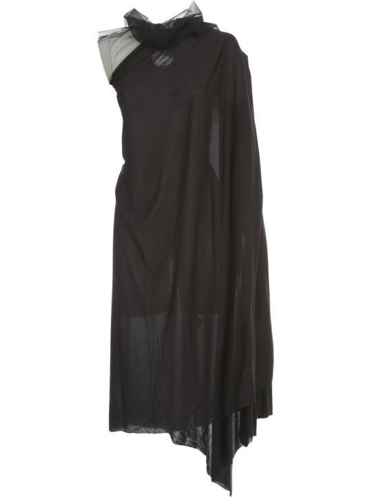 Rick Owens Lilies Dress W/tulle On Neck