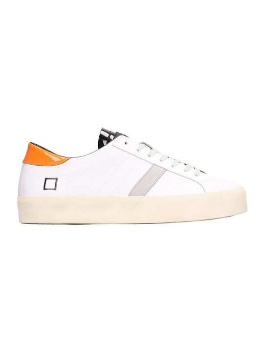 D.A.T.E. Double Fluo White Leather Sneakers
