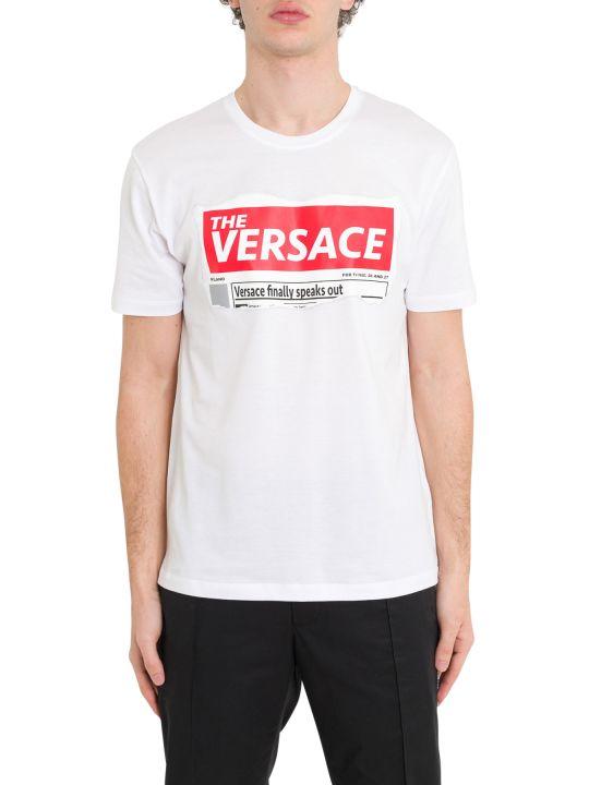Versace Versace Speaks Out Tee