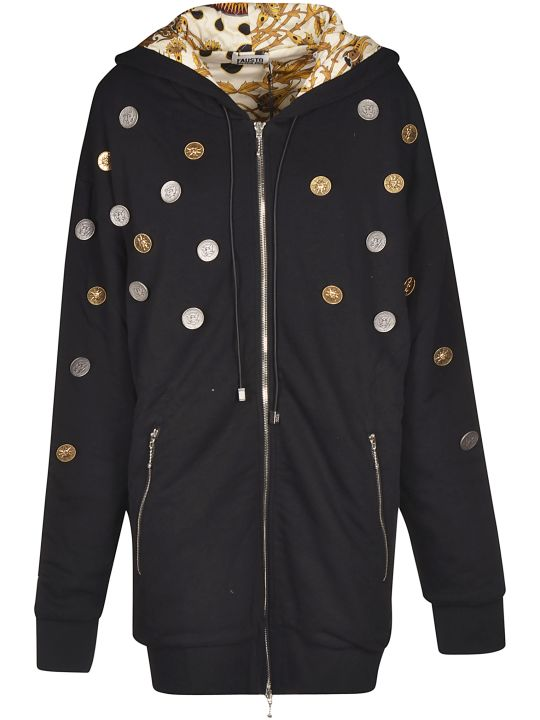 Fausto Puglisi Coins All-over Zipped Hoodie