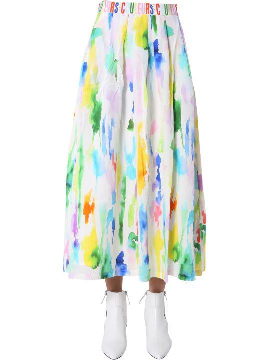 Etre Cecile Paint Print Emme  Skirt