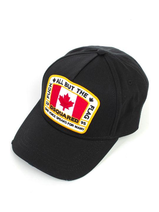 Dsquared2 Baseball Cap Gabardine W/canadian Flag