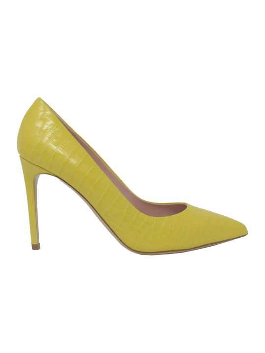 Ninalilou 301515lv Coco Print Yellow Pumps