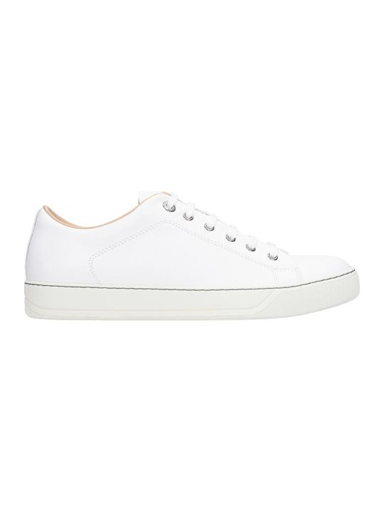 Lanvin Low Top Sneakers In White Leather