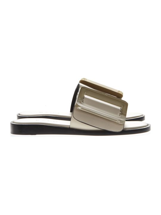 BOYY Birch Ecru Leather Sandals