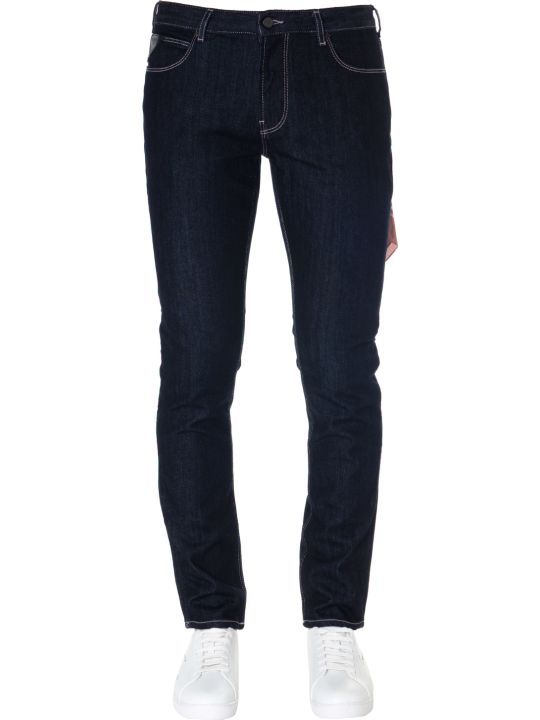 Emporio Armani Blue Cotton Denim Jeans