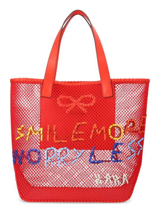 Anya Hindmarch 'smile Woven' Bag