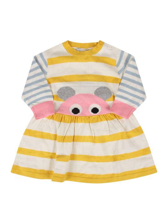 Stella McCartney Kids Striped Babygirl Dress With Mouse
