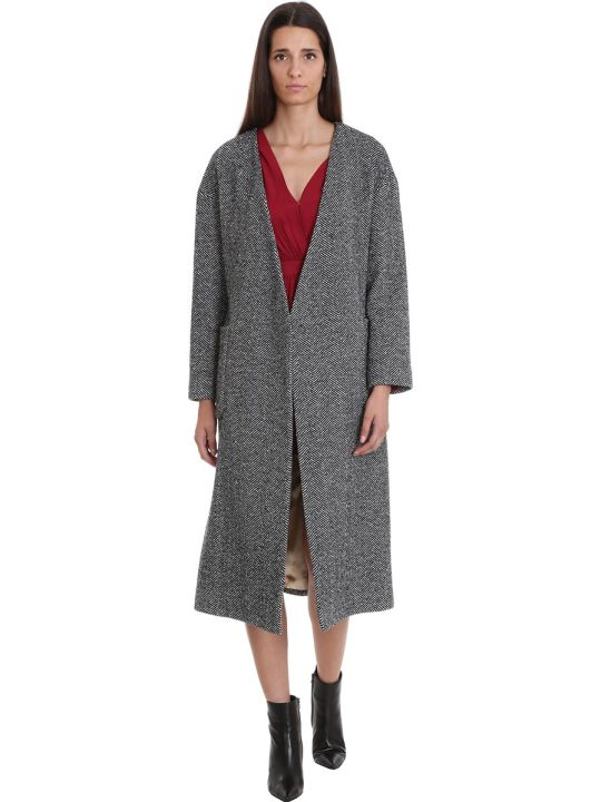 Mauro Grifoni Coat In Grey Wool