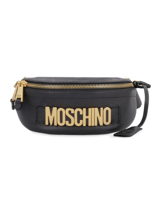 Moschino Logoed Leather Belt Bag