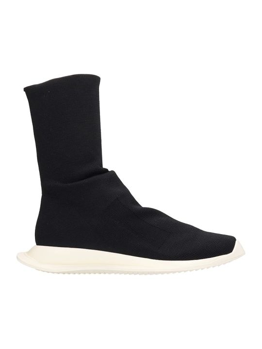 DRKSHDW Black Runner Sock Low Sneakers
