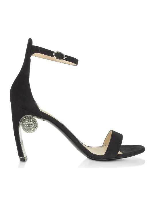 Nicholas Kirkwood Black 90mm Maeva Sandals