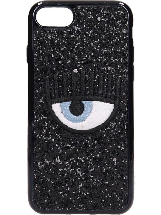 Chiara Ferragni Black Glitter Iphone 7-8 Cover