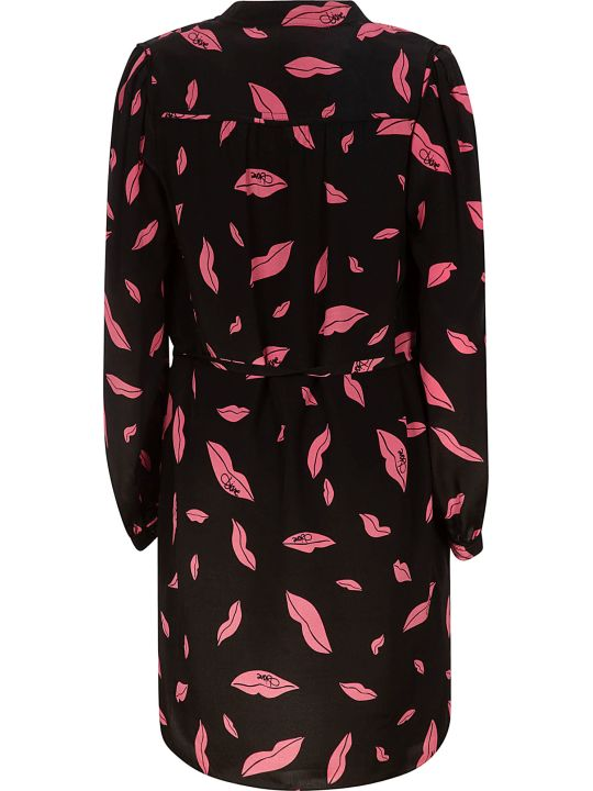 Diane Von Furstenberg Falling Lips Print Dress