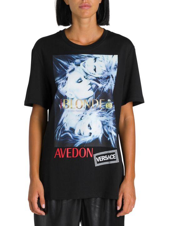Versace T-shirt A Maniche Corte Stampa Donatella
