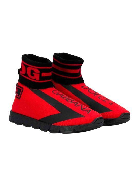 """Dolce & Gabbana Red """"socks"""" Shoes Dolce And Gabbana Kids"""