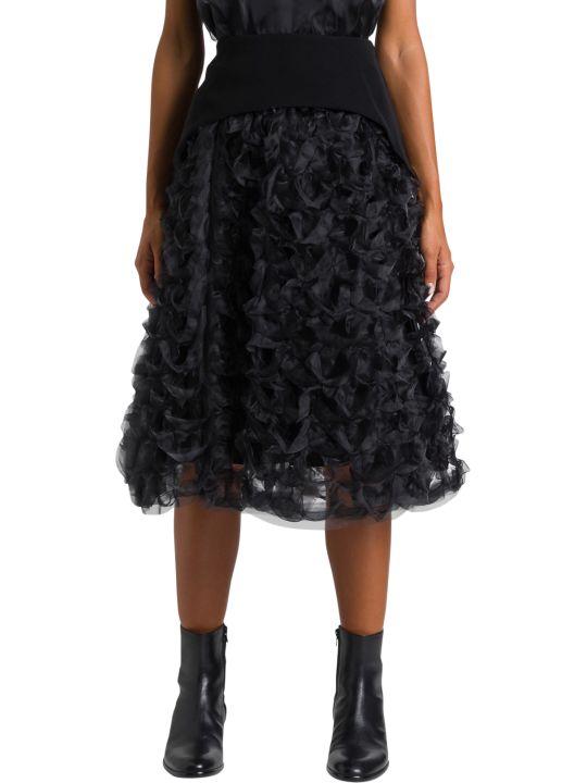 Noir Kei Ninomiya Organdie And Georgette Skirt
