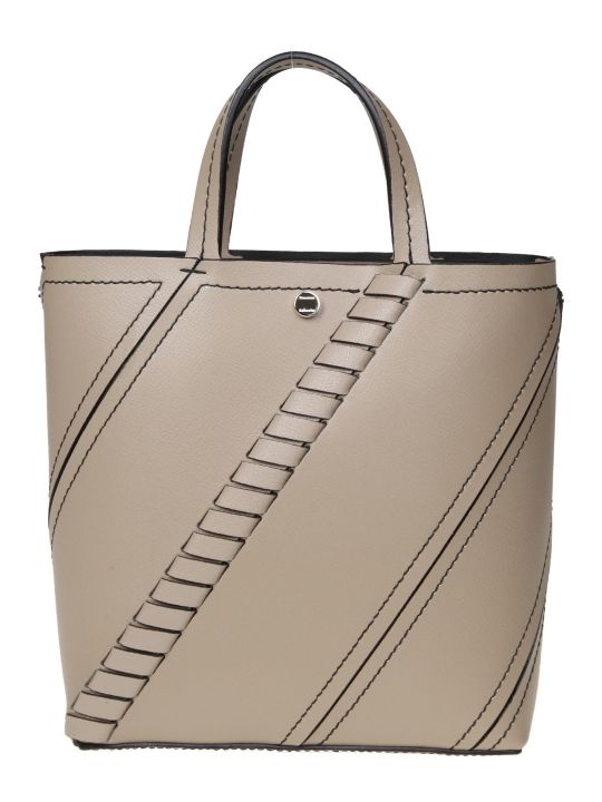 Proenza Schouler Bucket Hex Mini In Leather Color Taupe
