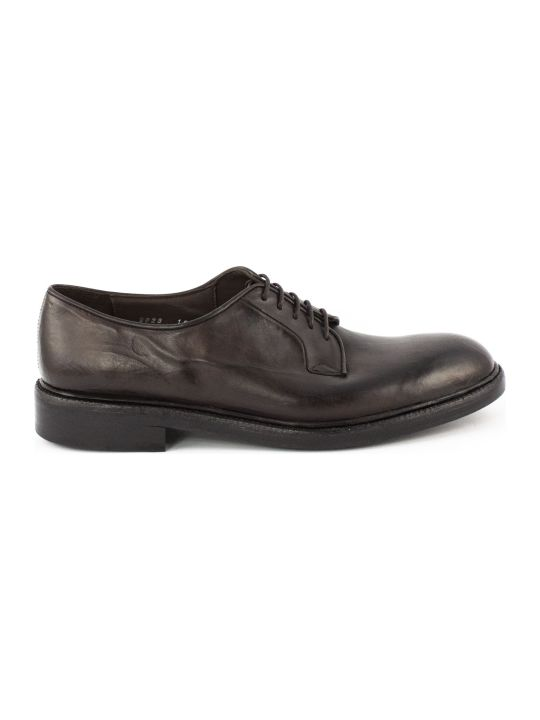 Green George Lace-up In Brown Bull Leather
