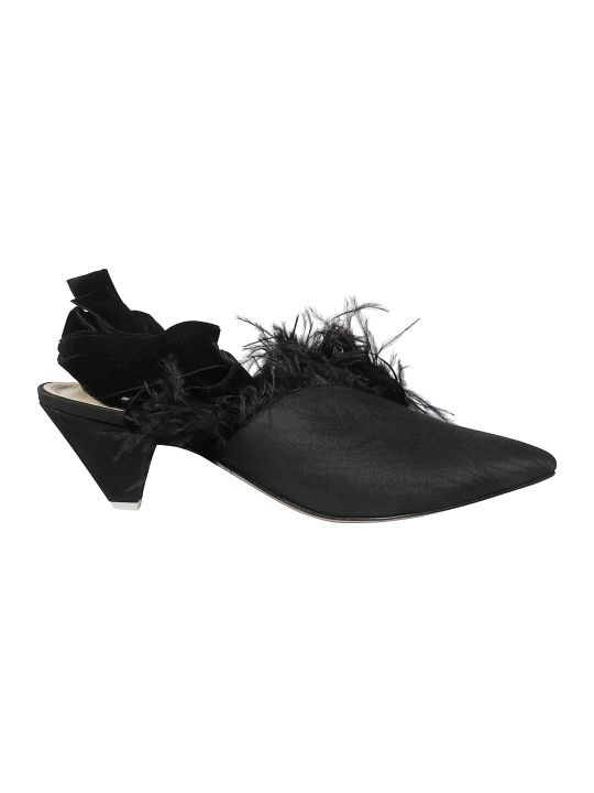 ATTICO Feather-detailed Mules