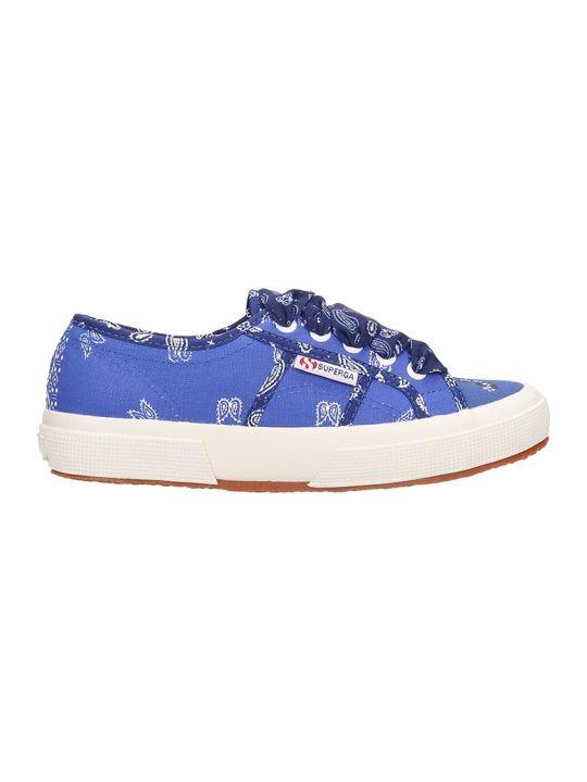 Superga Superga X Alanui Collaboration Blue Canvas Sneakers