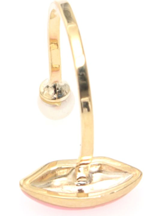 Delfina Delettrez Lips Ring 9kt Gold