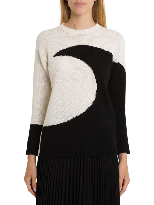 Valentino Cashmere Jumper With Moon Intarsia