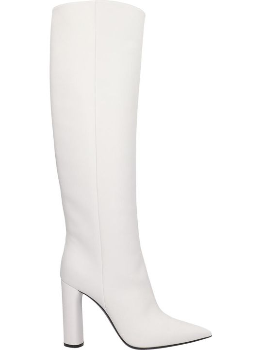 Casadei Agyness Boots In White Leather