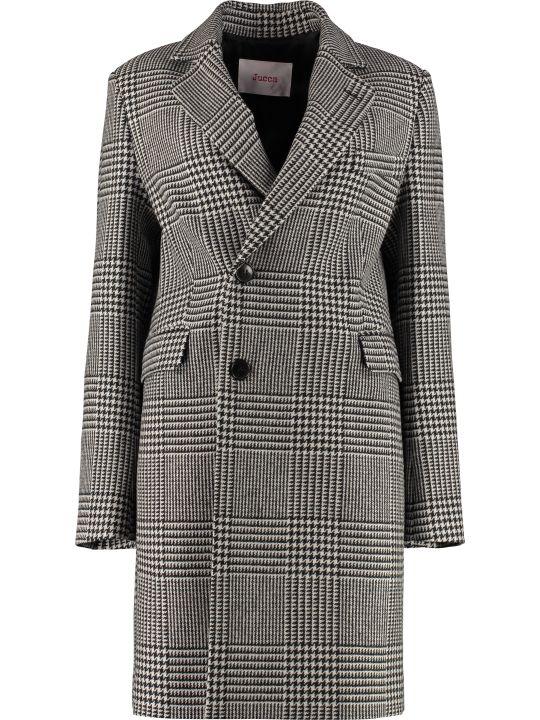 Jucca Wool Pied-de-poul Coat