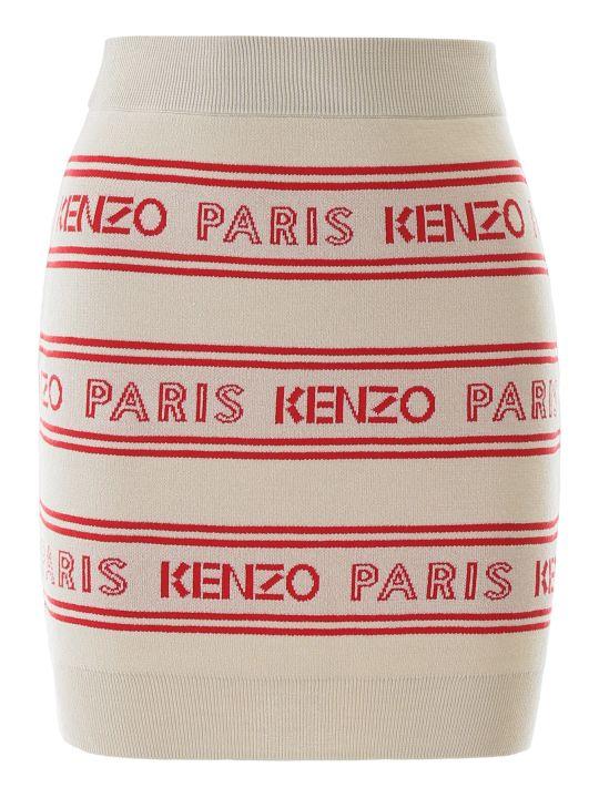Kenzo Jacquard Mini Skirt