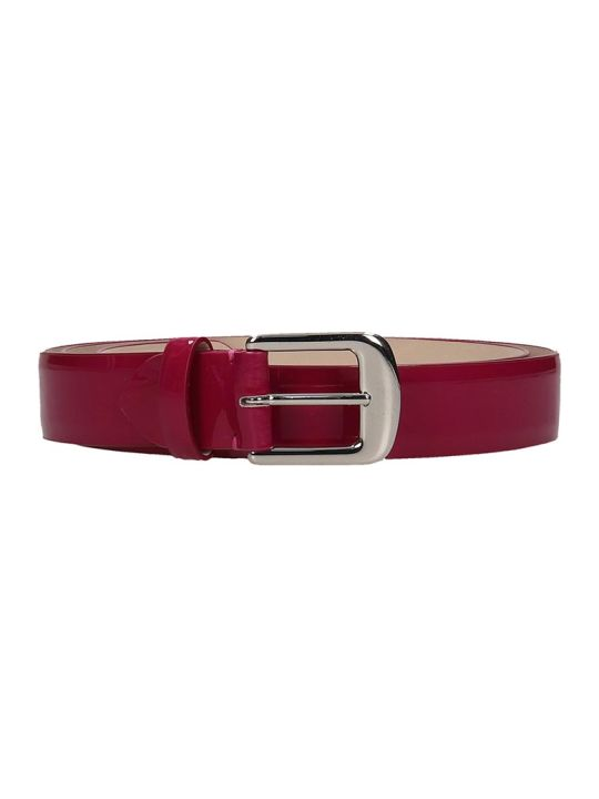 Maison Margiela Belts In Fuxia Patent Leather