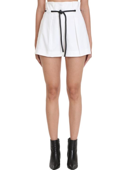3.1 Phillip Lim Shorts In White Cotton