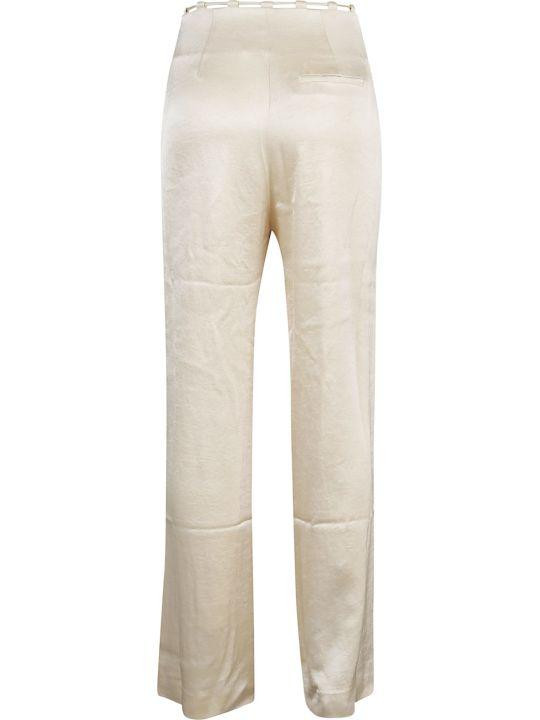 Nanushka Pantalone Maxi Belted Flax
