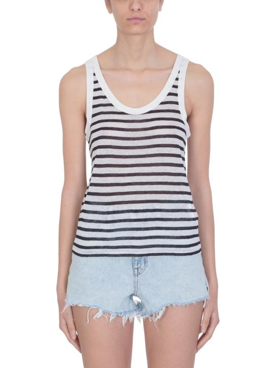 T by Alexander Wang Ink Ivory Viscose Top