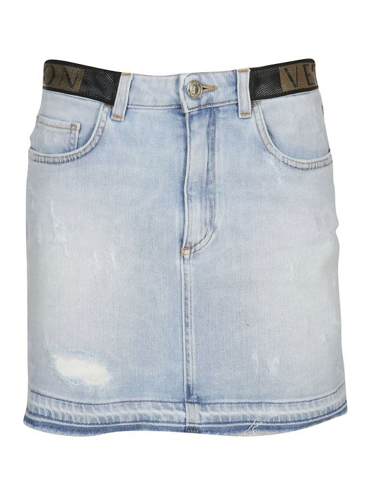 Versace Collection Denim Mini Skirt