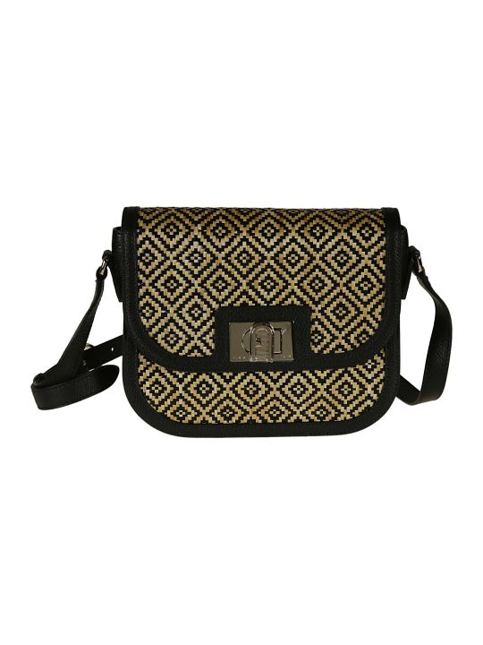 Furla Patterned Woven Shoulder Bag