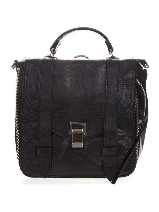Proenza Schouler Ps1+ Black Leather Backpack