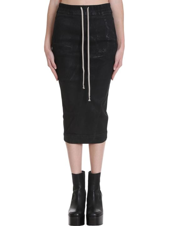 DRKSHDW Skirt In Black Denim