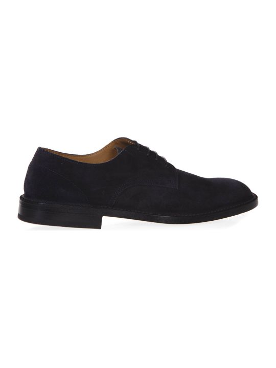 Green George Night Blue Suede Laced Shoes