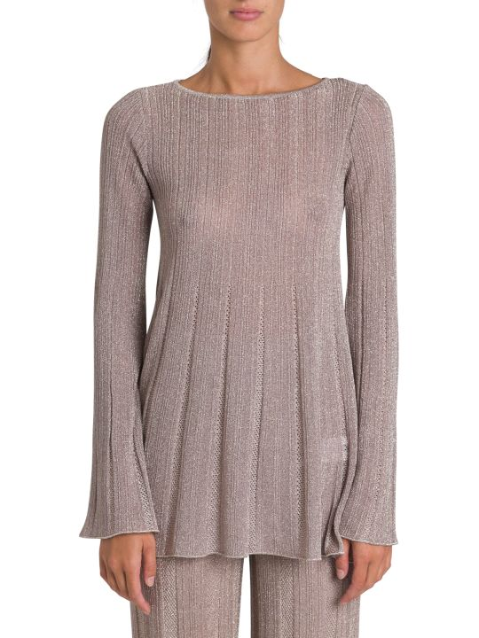 M Missoni Lurex Knit Bouse With Flared Hem And Cuffs