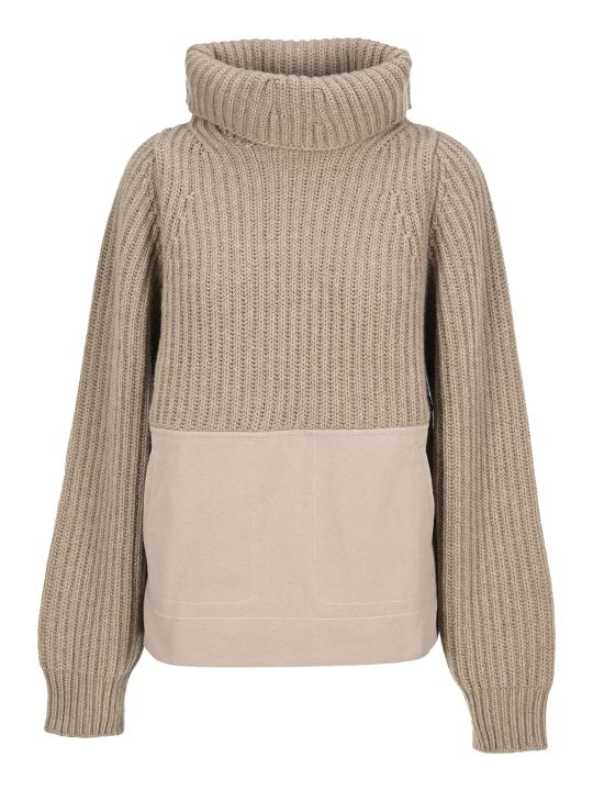 Haider Ackermann Panelled Ribbed Roll Neck Jumper